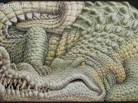 Crocodile-animal-painting-97x146@Benoit-Dechelle