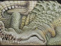 Crocodile-animal-painting-97x146@Benoit-Dechelle